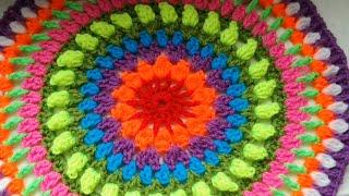 Easy Crochet Sunshine Mandala For Beginners Part 1