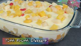 Kennt ihr es noch ? Das Tutti Frutti Dessert 🍒🍍🍎