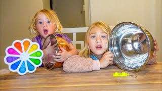 Tiny Fidget VS Giant Fidget Toy Challenge!!! (with baby sister Posie)