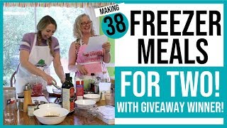 Making 38 Freezer Meals for Two with Giveaway Winner Ginny!