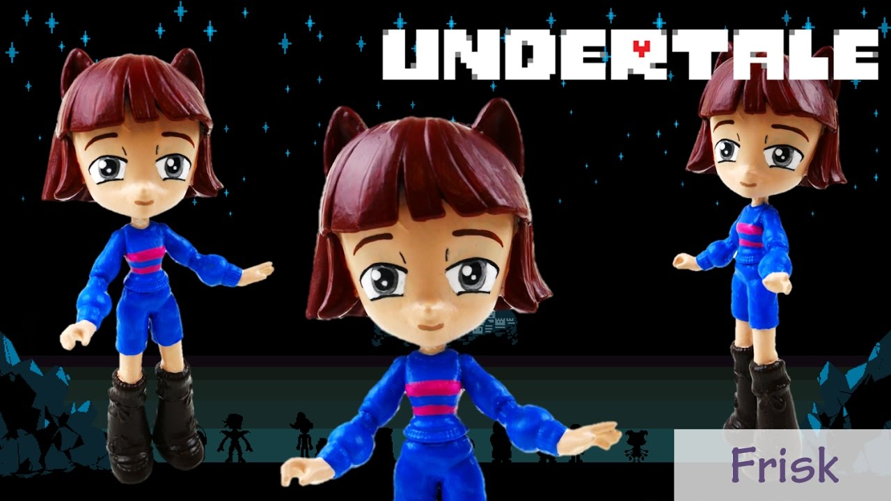 Undertale Frisk Toy Custom Action Figure Doll Tutorial | Evies Toy House