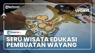 Wisata Edukasi di Solo, IKM Sanggar Wayang Gogon Surakarta Fasilitasi Pengunjung Membuat karya Seni