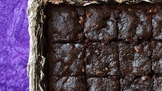 Whole Wheat Dark Chocolate Brownies – No Butter Ready in 30 Minutes!
