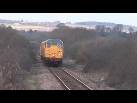 Network Rail Test Trains in the Yeovil Area featuring Classe…