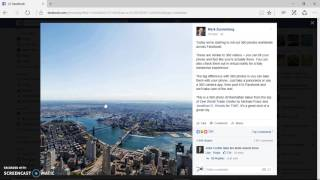 how to post and shareFacebook 360 pictures