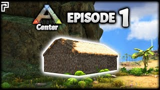 FIRST Day & House! Unfortunate Spawns! | ARK Survival Evolved: The Center | Episode 1