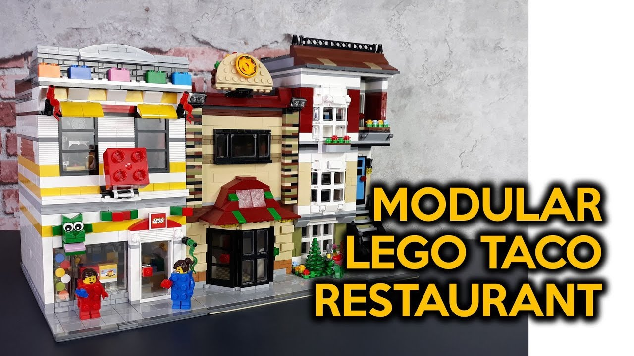 LEGO Taco Restaurant Modular Work-in-Progress
