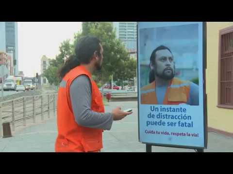 Campaña de prevención vial con tecnología interactiva FCAB - Cuida Tu Vida #Antofagasta