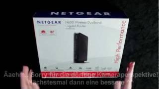 Netgear WNDR3700v2 300MBit Dualband Wireless-N Gigabit Router unboxing (German), Netgear N600