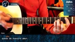 """Cómo tocar """"Ya Nada Queda"""" de Kudai en Guitarra Acústica (HD) Tutorial - Christianvib"""