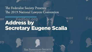 Click to play: Address by Secretary Eugene Scalia