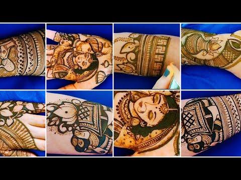 bridal full hand mehndi design indian style by aaru