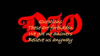 Dio - Strange Highways (Lyrics)
