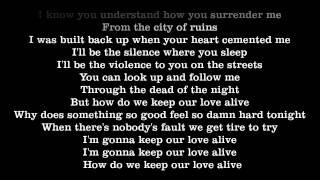 Keep our love alive lyrics - afrojack