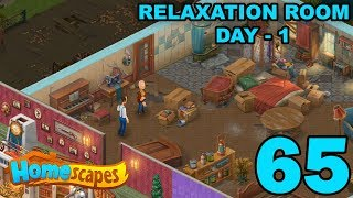 Homescapes Story Walkthrough Gameplay - Relaxation Room - Day 1 - Part 65