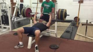 Tomáš Staněk bench press 225kg