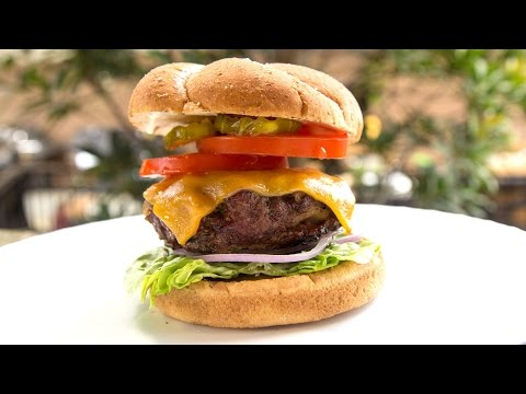 Weber Kettle Charcoal Grill The Perfect Burger Recipe