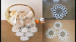 How To Crochet Blanket Afghan Rug Doily Motif Free Pattern Tutorial By Marifu6a