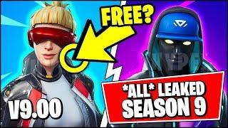 *NEW* ALL Fortnite V9.00 Season 9 Leaked Skins | BATTLE PASS FREE SKINS & SHOP (Fortnite Update)