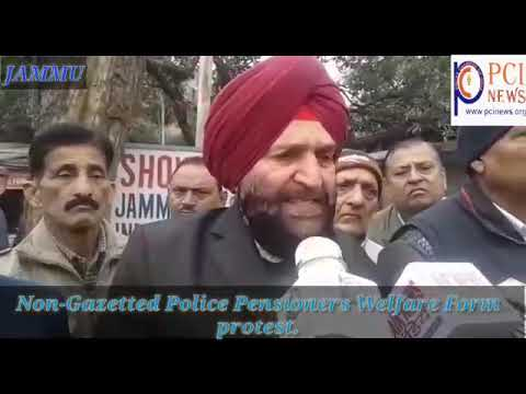 Non-Gazetted Police Pensioners Welfare Form protest.
