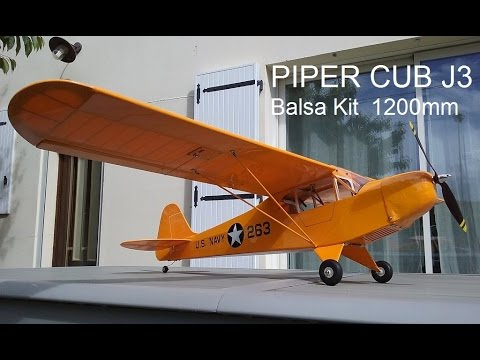 Piper Cub j3 Construction and first flights.