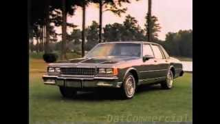 1986 Chevy Caprice Commercial (1985) Luxury Car Drive Today's Chevy, Live Today's Chevy Chevrolet