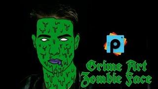 PicsArt Editing Tutorial   Grime Art on face   Zombie Face Effect   PicsArt Best  HD