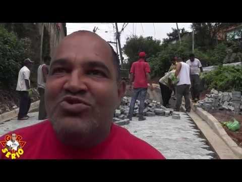 Rua Justino Mendes de Oliveira vai se Transformando em rua de Verdade na Favela do Justinos Morro do Macaco