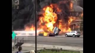 Бензовоз взорвался в Алматы