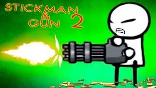 КУПИЛ ПУЛЕМЕТ! Битва с МОНСТРАМИ в Мультяшной игре для детей Stickman And Gun 2