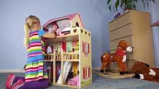 """Ігровий ляльковий будиночок Ecotoys 4119 Tima Toys + 2 ляльки від компанії Интернет магазин """"Дом-сад"""" - відео"""