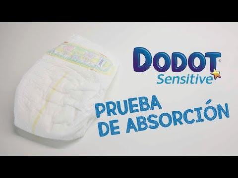 Prueba de absorción, pañales Dodot Sensitive