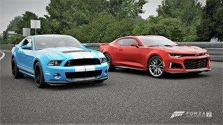 Forza 7 Drag Race: Ford Mustang Shelby GT500 Vs Chevrolet Camaro ZL1 (2017)