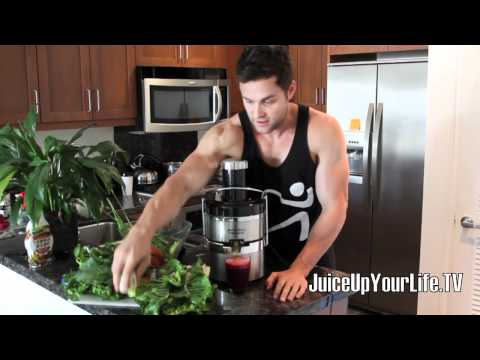 Video Juice Recipe Liver Cleanse  Beets - Lemon - Pair - Carrot - Ginger - Watercress - More