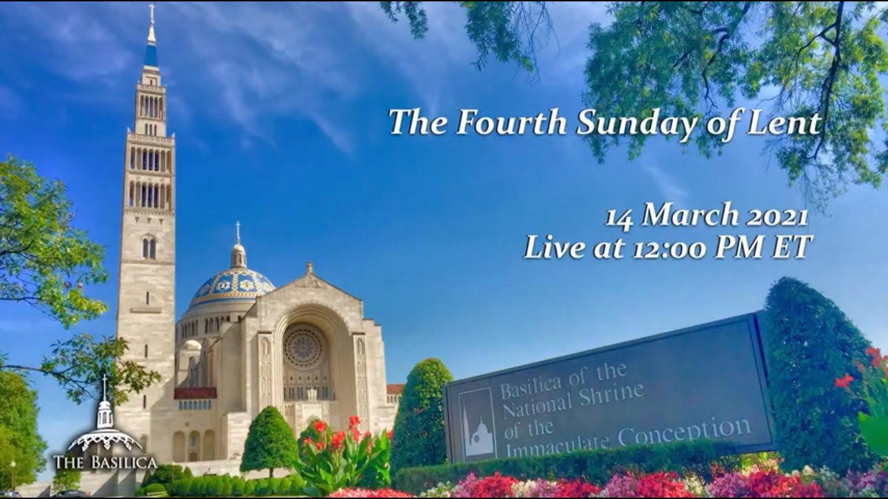 Sunday Mass from Basilica of the National Shrine 14th March 2021 Livestream