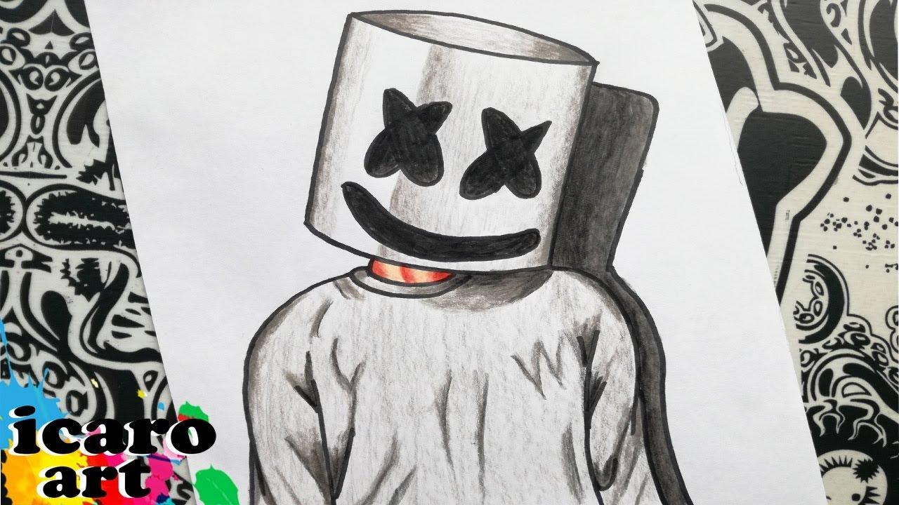 Como Dibujar A Marshmellow Como Dibujar A Mashmello Paso A Paso