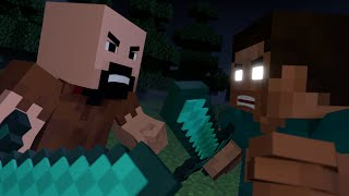 Notch vs Herobrine - Minecraft Fight Animation