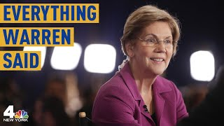 Everything Sen. Elizabeth Warren Said at the Las Vegas Democratic Debate | NBC New York