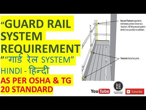 Guard Rail System   as per OSHA & TG 20 standard   scaffolding safety