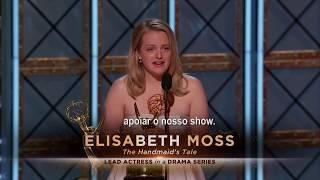 #EmmyNaTNT | Discurso da Elisabeth Moss