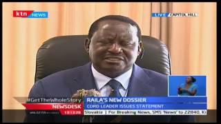 KTN News Desk: CORD leader Raila verifys the desertification process as non political, 10/10/16
