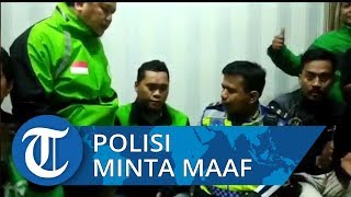 Viral Video Oknum Polisi Tendang Driver Ojol, Polisi Penendang Minta Maaf