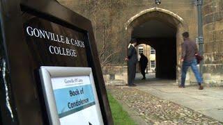People sign book of condolences in Cambridge after Hawking death