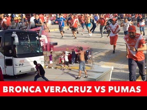 Bronca Veracruz vs Pumas