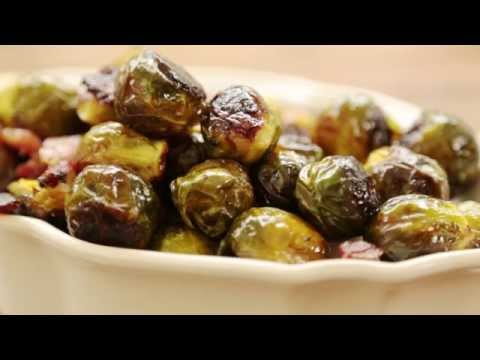 How to Make Maple Roasted Brussels Sprouts with Bacon   Thanksgiving Recipes   Allrecipes.com