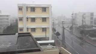 2018年7月10日台風8号宮古島直撃。午後5時30分頃。