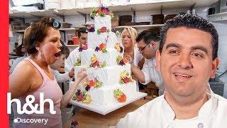 Noiva Nervosa Acaba Estragando O Bolo De Casamento Com As Mãos   Cake Boss   Discovery H&H Brasil