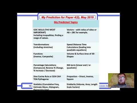 Updated Predictions for iGCSE International Mathematics 0607 Paper 42 (Asia)