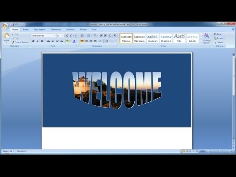 Microsoft word tutorial  How to Quickly Put an Image Inside Text in Word