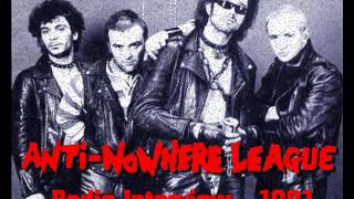 Anti-Nowhere League - Radio Interview with Animal and Magoo, 1981. (AUDIO ONLY)